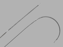 Reuter Tip-Deflecting Wire Guide shown straight and deflected