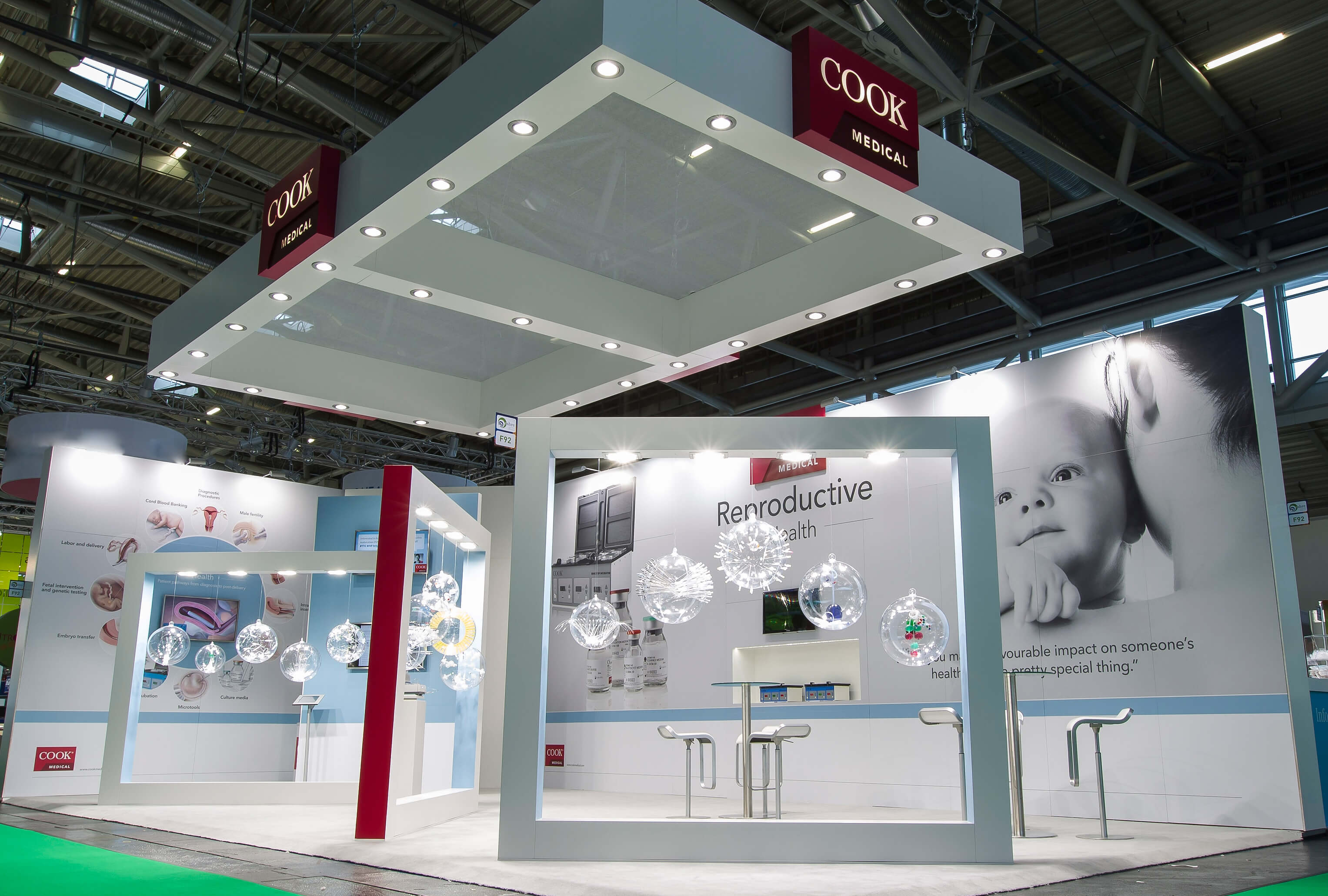 View of the Cook Medical Reproductive Health booth at ESHRE 2014, Munich, Germany