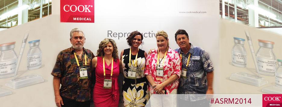 Sam Goldberg, Getter Bio-Med Ltd , Cindy Dosen, Stephanie Evers, Vonda Brabner, and Ted Lloyd-Jones at the Cook Medical booth, ASRM 2014.