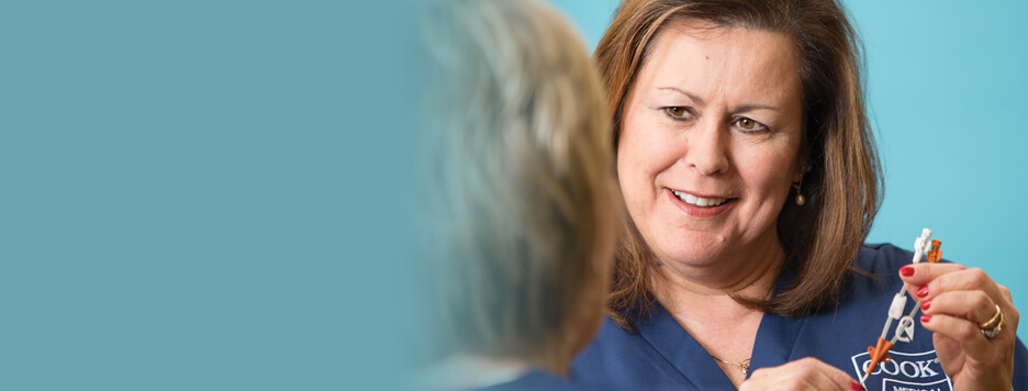 What is the Cook Medical clinical specialist team?