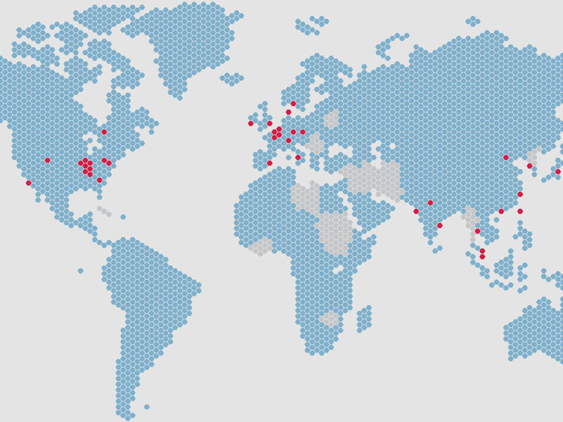Cook's locations around the globe