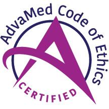 Emblem of AdvaMed Code of Ethics certification