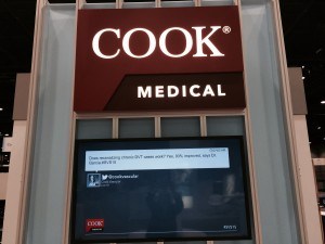 Photo of a Cook Medical booth at a medical meeting