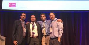 EndoWar winners, from left to right: Drs. Mohammed Al-Natour, Mohammad Abbasi, Sandeep Krishnan, Adam Tanious