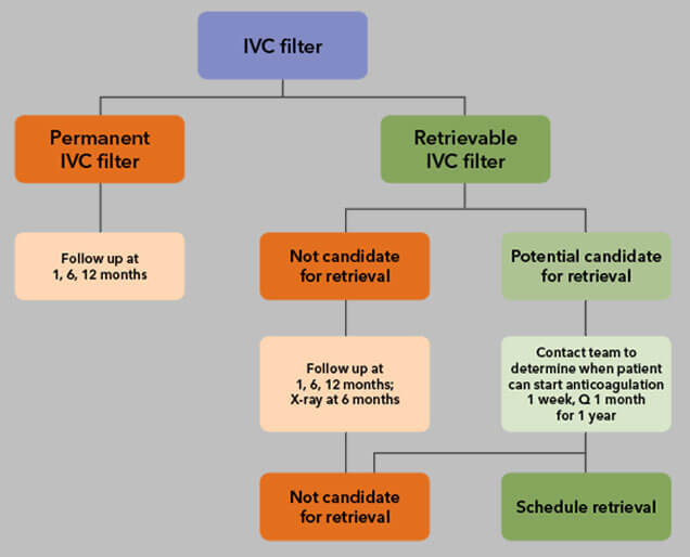 Dr Gasparis' IVC filter retrieval protocols