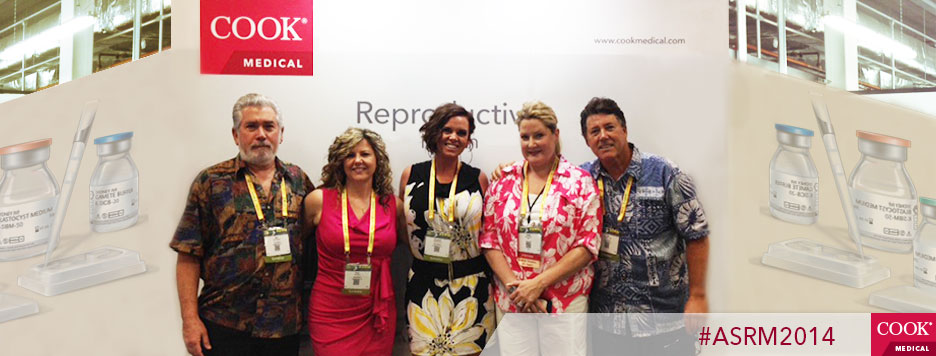 Sam Goldberg, Getter Bio-Med Ltd , Cindy Dosen, Stephanie Evers, Vonda Brabner, and Ted Lloyd-Jones at the Cook Medical booth, ASRM 2014.