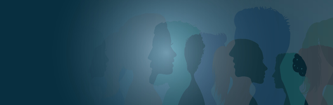silhouette images of people of diversity