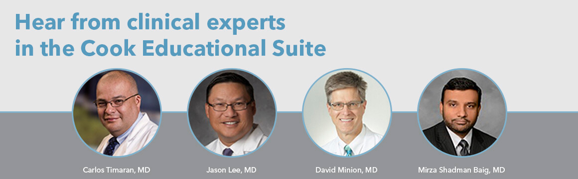 Hear from clinical experts in the Cook Educational Suite at Veith 2016
