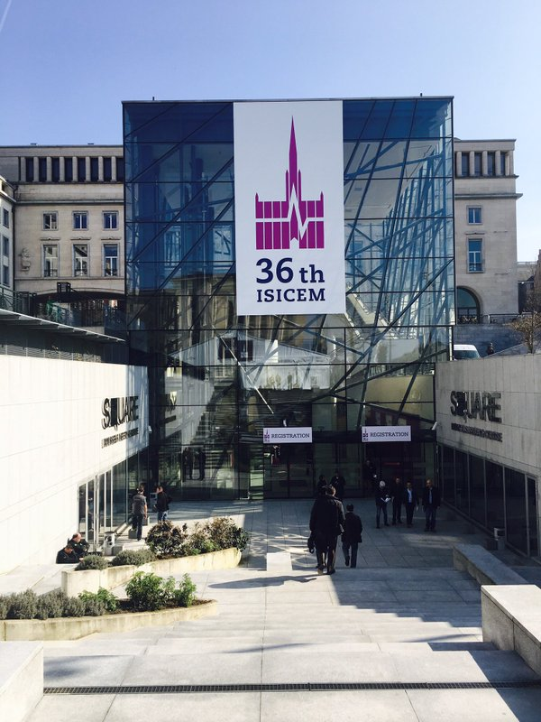 Front of the Square – Brussels Meeting Center at 36th ISICEM.