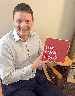 The Cook book project, initiated by Keith, Senior Product Manager for Cook's Endoscopy division, was widely embraced by his colleagues and other Cook Medical employees in Ireland.